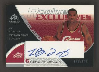 2003 - 04 Sp Game Exclusives Lebron James Cavaliers Rc Auto 5/100