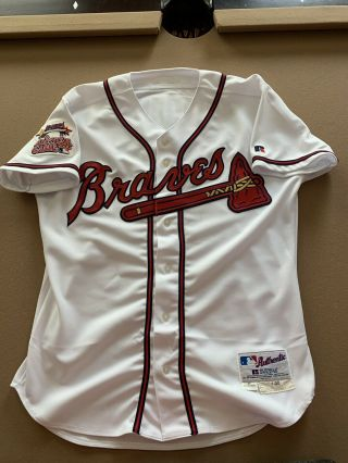 2000 Greg Maddux Game Issued Jersey Signed Braves Psa Hof