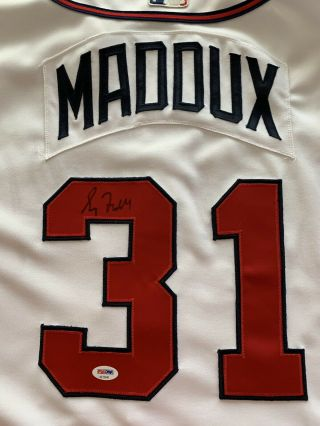 2000 Greg Maddux Game Issued Jersey Signed Braves PSA HOF 8
