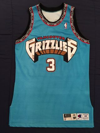 Nba Jersey Shareef Abdur - Rahim Jersey Vancouver Grizzlies Jersey Game Issued