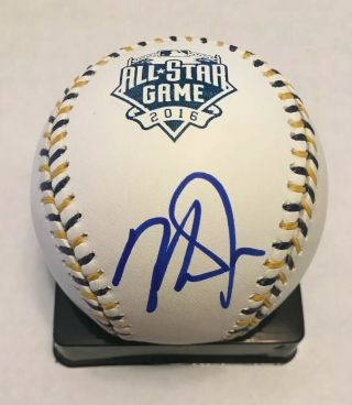 Mike Trout Signed 2016 All Star Mlb Baseball Angels Jsa Letter Authentic Auto