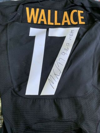 Pittsburgh Steelers 2012 Mike Wallace Signed Loa Game Worn Jersey