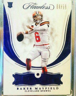2018 Flawless Baker Mayfield GEM Rookie rc /15 DOUBLED DIE error = 1/1 one of SP 11