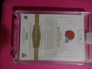 2018 Flawless Baker Mayfield GEM Rookie rc /15 DOUBLED DIE error = 1/1 one of SP 6
