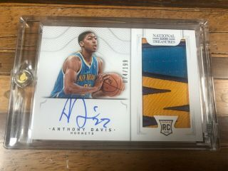 Anthony Davis 2012 - 13 National Treasure Rookie Card Patch Auto Rc 074/199