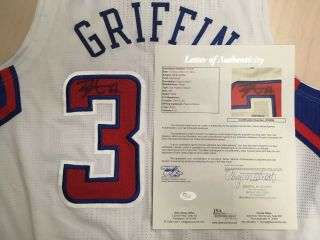 Blake Griffin Signed/Autographed Game Used/Issued LA Clippers Jersey (JSA LOA) 2