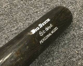 "Bob Horner 1980 Game Bat 34 "" Uncracked Psa/dna Loa Atlanta Braves"