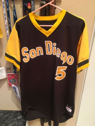 San Diego Padres Game Jersey.  Kendall.  1979