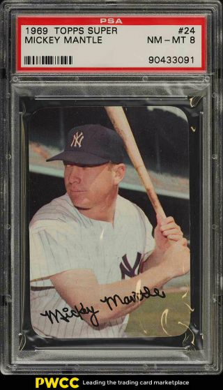 1969 Topps Setbreak Mickey Mantle 24 Psa 8 Nm - Mt (pwcc)