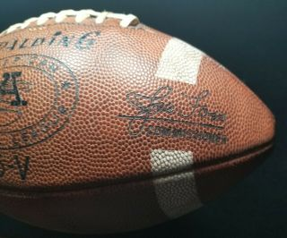1960s Spalding J5 - V Afl Game Model Football Joe Foss Leather Pigskin
