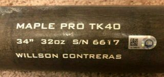 Willson Contreras Game Bat Mlb Holo Chicago Cubs Two Time All Star 2016 Ws