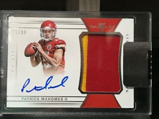 2017 National Treasures Patrick Mahomes Ii Rookie Patch Autographs 89/99