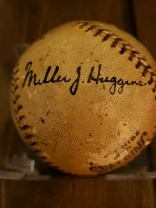 1923 World Series Game - Ball Signed by Ruth,  Huggins,  McGraw.  PSA Certified 2