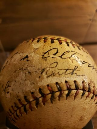 1923 World Series Game - Ball Signed by Ruth,  Huggins,  McGraw.  PSA Certified 3