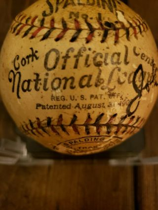 1923 World Series Game - Ball Signed by Ruth,  Huggins,  McGraw.  PSA Certified 6