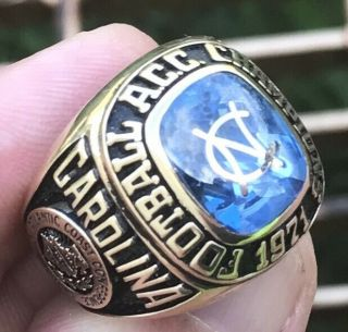 1971 North Carolina Tar Heels Gator Bowl Champions Championship 10k Ring