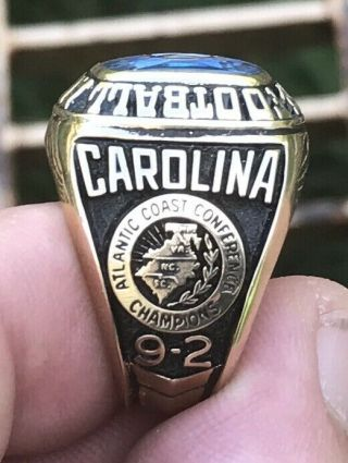 1971 North Carolina Tar Heels gator bowl champions championship 10k ring 2