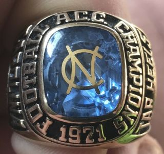 1971 North Carolina Tar Heels gator bowl champions championship 10k ring 5