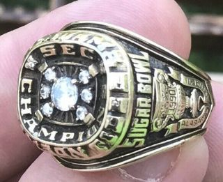 1989 Alabama Crimson Tide Sec Football Champions Championship 10k Ring