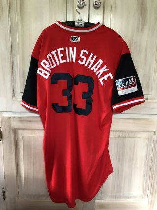 Brad Hand Game Jersey,  Cleveland Indians,  Players Weekend,  Mlb Auth