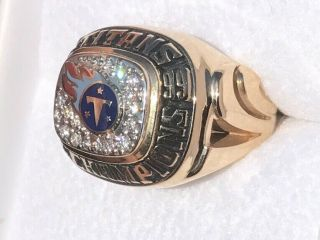 1999 Tennessee titans 14k diamonds football champions championship ring 2