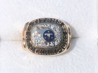 1999 Tennessee titans 14k diamonds football champions championship ring 3
