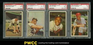 1953 Bowman Color Mid - Grade Complete Set Berra Mantle Ford Musial,  Psa (pwcc)