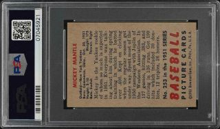 1951 Bowman Mickey Mantle ROOKIE RC 253 PSA 6 EXMT (PWCC) 2