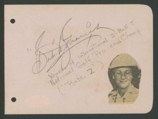 Babe Didrikson Zaharias Signed Album Page | Psa/dna Certified Autograph Loa