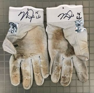 Mike Trout 2x Signed 2018 Game Nike Batting Gloves Autographed W/ Loa