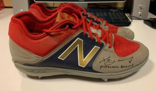 Game Autographed/signed Xander Bogaerts 2016 Postseason Cleats Beckett