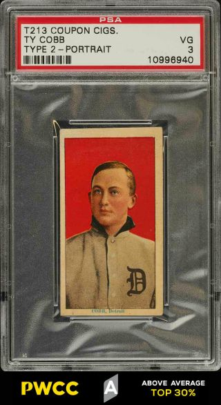 1914 T213 Coupon Type 2 Ty Cobb Portrait Psa 3 Vg (pwcc - A)