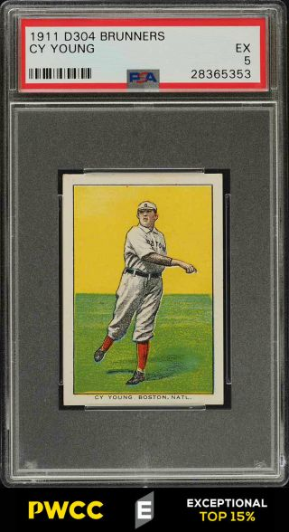 1911 D304 Brunners Bread Cy Young Psa 5 Ex (pwcc - E)