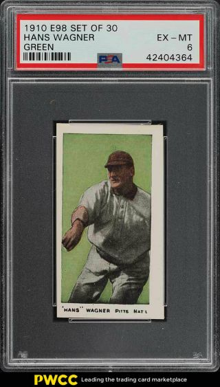 1910 E98 Set Of 30 Green Honus Wagner Psa 6 Exmt (pwcc)