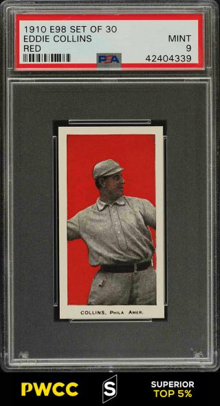 1910 E98 Set Of 30 Red Eddie Collins Psa 9 (pwcc - S)