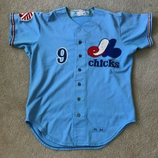 Game Worn/used Montreal Expos Memphis Chicks Jersey