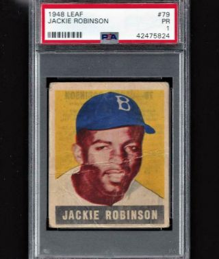 ⚾1948 Leaf 79 Jackie Robinson Psa Rookie Centered Born 100 Yrs Ago Own History