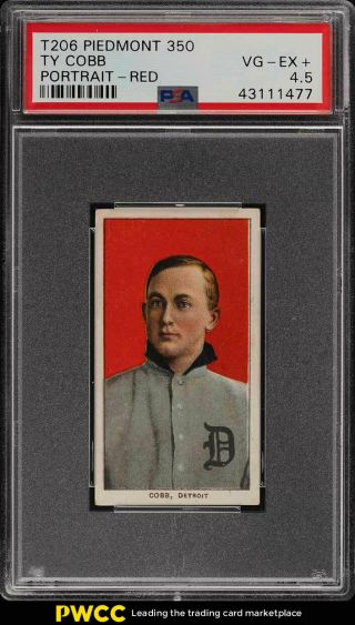 1909 - 11 T206 Ty Cobb Red Portrait Psa 4.  5 Vgex,  (pwcc)