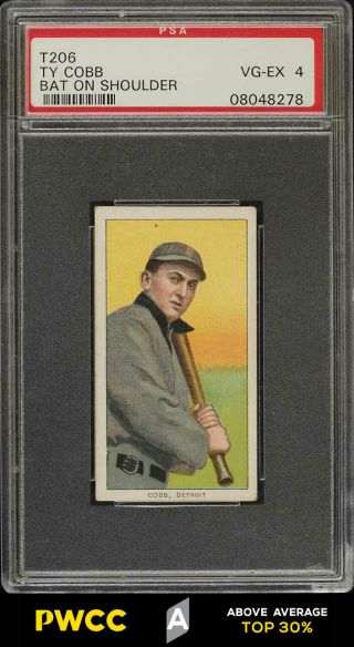 1909 - 11 T206 Ty Cobb Bat On Shoulder Psa 4 Vgex (pwcc - A)