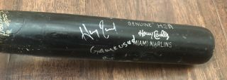 Hanley Ramirez Game 2012 Uncracked Bat Autograph Signed Marlins