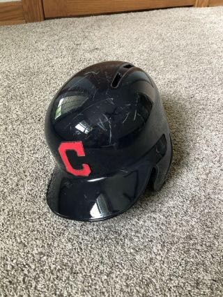 Brandon Guyer Game Helmet,  Cleveland Indians,  Ws G7,  Chicago Cubs,  Mlb Auth