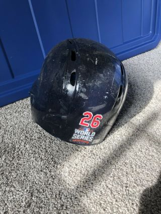Mike Napoli Game Batting Helmet,  Ws Game 7,  Mlb Auth,  Cleveland Indians