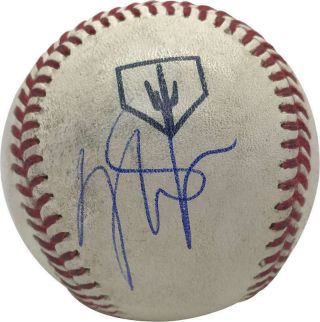 Mike Trout Signed Autographed Game Spring Training 2019 Baseball Psa/dna
