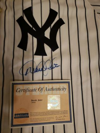 Derek Jeter Signed Yankees 2 Jersey Steiner Authentic Auto