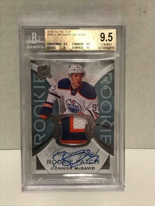 2015 - 16 Ud The Cup - Connor Mcdavid Rpa 20/99 - Beckett 9.  5 Gem Holy Grail