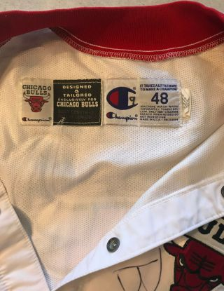 96 - 97 Ron Harper CHICAGO BULLS Game Worn Autograph Signed Warmup NBA Jacket 5