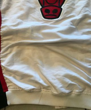 96 - 97 Ron Harper CHICAGO BULLS Game Worn Autograph Signed Warmup NBA Jacket 7
