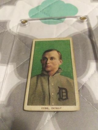 1909 - 11 T206 Ty Cobb Green Portrait Piedmont Back Gd/vg 1980