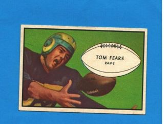 1953 Bowman 36 Tom Fears Los Angeles Rams Football Card