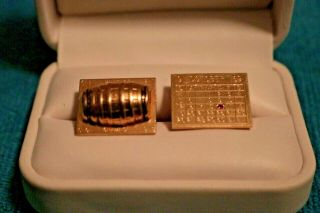 1969 NY Mets World Series Cufflinks Presented To Ralph Kiner 2